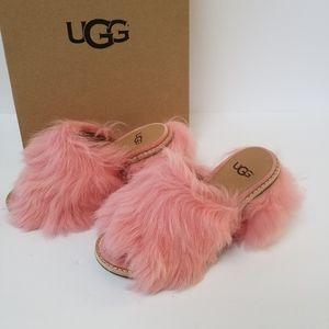 New UGG Rosa Fluff Heels Size 5